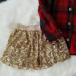GapKids | Gold Sequined Skirt
